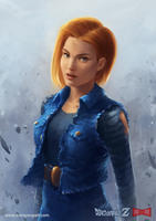 Dragon Ball Z: Android 18 by SamYangArt