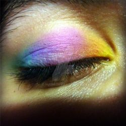 Rainbow makeup by 041296