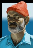 Steve Zissou work in progress by YogFingers