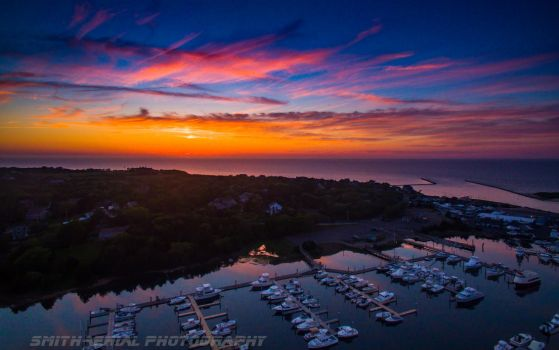 Sesuit Harbor sunset by smitht2ncc1701