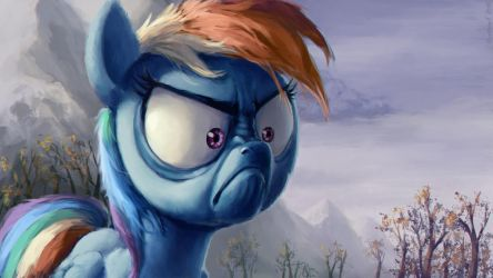 Rainbow Dash Is Not Angry by Hunternif