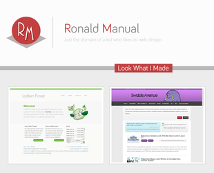 My plans for Ronaldmanual.com by lolitsronald