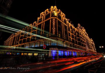 Harrods London at Christmas by MidagePhotographer