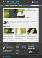 free template 'Gongblog' home by Artfans