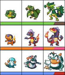 Starters_final versions by blazeknight-94