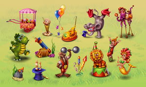 Objects for flash game location Carnival by GruberJan