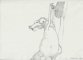 Hanging Squirrel From Ice Age by casper033