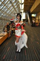 Hall shot of my New Dawn Ahri by Kittybunnons