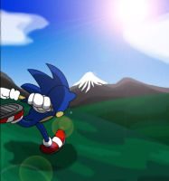 Sonic Running by TheWax