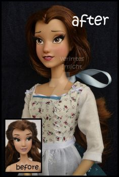repainted ooak limited edition belle doll. by verirrtesIrrlicht