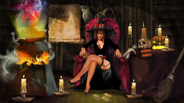 witch 2 color by gustavodesimone
