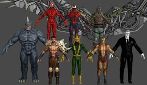 Spiderman Villain VU Pack Marvel Heroes XNALara by Xelandis