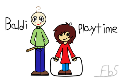Baldi and Playtime by FunnyBoneSans