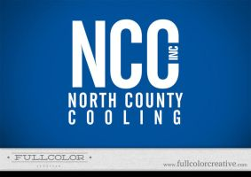 North County Cooling Logo by FullcolorCreative