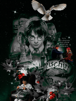 Harry Potter at Christmas by VaLeNtInE-DeViAnT
