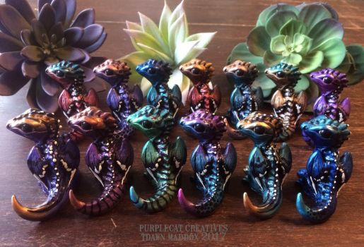 Hatchling Dragon group pic by purplecatcreatives