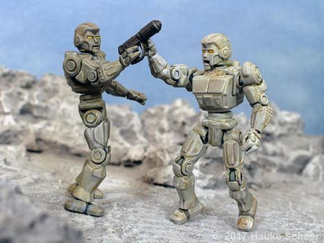 3D printed robot action figure 3 3/4 inch H by hauke3000