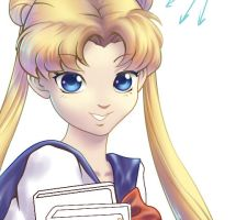 Welcome Back Sailor Moon WIP by Dhavita