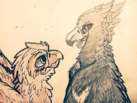 Phoenix and Crowly. 2 version. by Phenix20122000