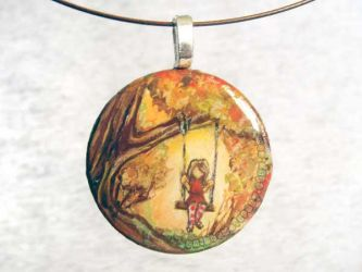 Autumn Swing Pendant by sobeyondthis