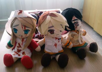Silent Hill plushies by Our-Ghosts-Remain