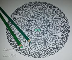 Another Celtic Knot Mandala - Adult Colouring Page by LorraineKelly