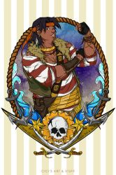 Voltron Pirate AU - Hunk (Boatswain) by CicisArtandStuff