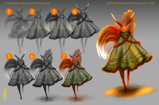Poncho Fox Step by step by MCilustracion