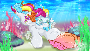 Snorkeling With Baby Honolu-Loo by AnScathMarcach