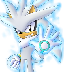 Fan Art Silver The Hedgehog  by kellylaeriza132003