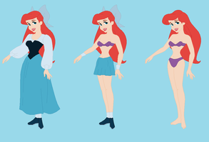 Ariel-  Wreck-It Ralph RP Fantasy outfits by Dinalfos5