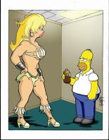 Homer Meets Amazonian -COLOR by RaelIAK
