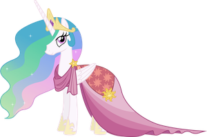 Princess Celestia's Gala Dress (2) by 90Sigma