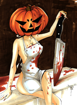 Halloween Special - Pumpkin Butcher by AkaiYuyake