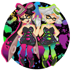 Squid Sisters Callie And Marie by toxicxnero