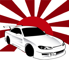 Nissan Silvia Illustration by Rooonin