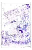 Prison Planet cover WIP 2 by strickart