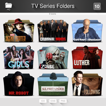 TV Series Folders - PACK 10 by limav