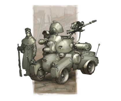 Protectorate Scout Car by MikeDoscher