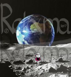 Hello Kitty, on the moon, as a baby by Reixma