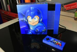 custom painted mega man nes airbrushed by CKSIGNS