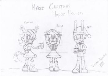 Happy Holidays and Merry Christmas!!! by Vulkano-Hedgehog