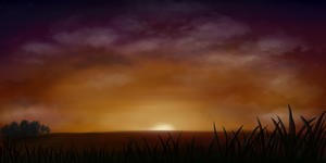 Sunset speedpaint 2 by Moonlight-pendent13