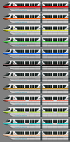 WDW Monorail - All Colors by BJ-O23