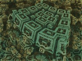 Box Menger Box Julia 1 - Mandelbulb 3D fractal by schizo604