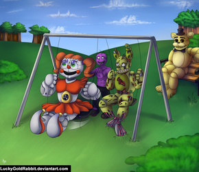 Afton Family's Day In The Park by LuckyGoldRabbit