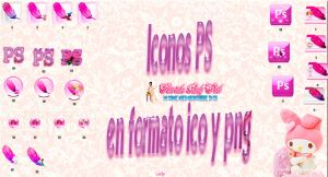 Iconos de photoshop en rosa by TutosLadyPink