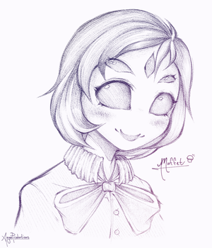 Undertale - Muffet Doodle by AquasProductions