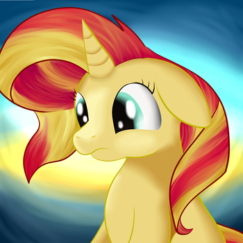 Sunset Shimmer Portrait by Huffy26
