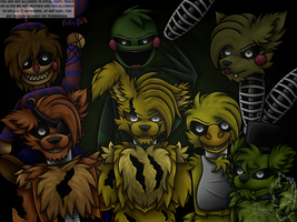 Springtrap and the Phantoms by Infanio